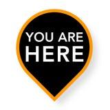 Usted está aquí indicador del mapa Imagenes de archivo