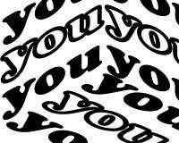 Usted inscripción Cita inspirada, motivaci?n Tipograf?a para la camiseta, invitaci?n, impresi?n de la camiseta de la tarjeta de f stock de ilustración