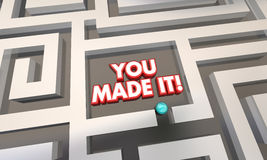 Usted le hizo a Maze Lost Found Success Fotos de archivo libres de regalías