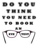 Usted le piensa necesidad de reservar una prueba del ojo Fotos de archivo libres de regalías