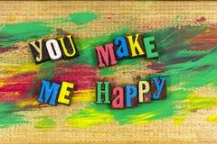 Usted me hace la relación feliz Fotografía de archivo libre de regalías