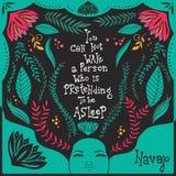 Usted no puede despertar a una persona que esté fingiendo estar dormida Imagen de archivo