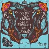 Usted no puede despertar a una persona que esté fingiendo estar dormida Fotografía de archivo