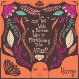 Usted no puede despertar a una persona que esté fingiendo estar dormida Foto de archivo libre de regalías
