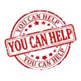 - Usted puede ayudar - vector sellado dañado Imagen de archivo
