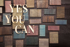 Usted puede SÍ Foto de archivo libre de regalías
