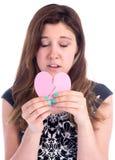 ¡Usted rompió mi corazón! Foto de archivo libre de regalías