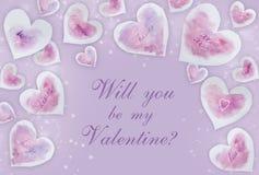 Usted será mi plantilla de la tarjeta del día de San Valentín Fotografía de archivo