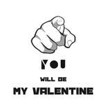 Usted será mi tarjeta del día de San Valentín ilustración del vector