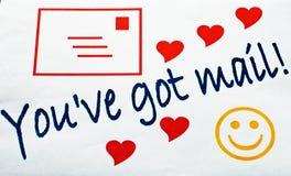 Usted tiene correo Fotografía de archivo libre de regalías