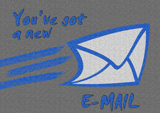 Nuevo email Foto de archivo