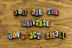 Usted ventaja del ganador de la dirección del universo fotos de archivo