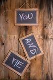 Usted y yo Foto de archivo libre de regalías