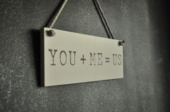 Usted y yo Imagen de archivo