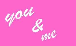 Usted y yo Imágenes de archivo libres de regalías