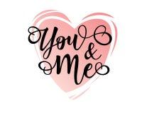 ` Usted y yo cartel inspirado de la motivación de las letras del ` Imagen de archivo