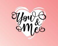 ` Usted y yo cartel inspirado de la motivación de las letras del ` Fotografía de archivo libre de regalías
