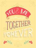 Usted y yo Junto por siempre Foto de archivo libre de regalías