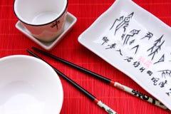 Ustensil tradizionale del ristorante giapponese Fotografie Stock