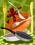 Ustensile de cuisine illustration stock