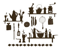 Ustensile de cuisine (vecteur) Image libre de droits