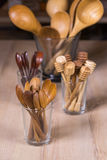 Ustensile en bois de cuisine Image stock