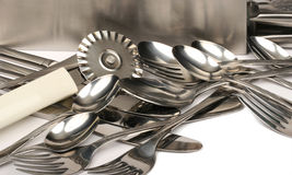 Ustensiles 1 en métal Photographie stock libre de droits