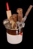 Ustensiles antiques de cuisine photographie stock libre de droits