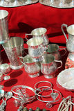 Ustensiles argentés antiques Images stock