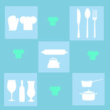 Ustensiles de cuisine illustration libre de droits