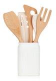 Ustensiles de cuisine dans le support Image libre de droits