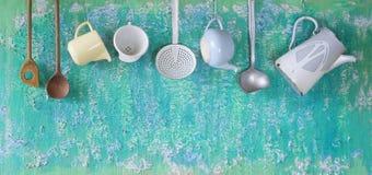 Ustensiles de cuisine de vintage Images stock