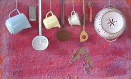 Ustensiles de cuisine de vintage, Image stock