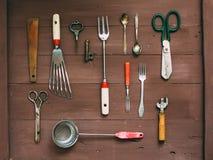 Ustensiles de cuisine de vintage Photographie stock libre de droits