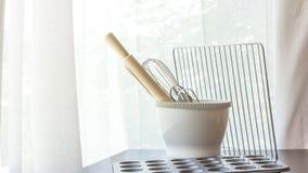Ustensiles de cuisine pour la cuisson Photo stock