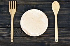 Ustensiles de cuisine sur le Tableau photos libres de droits