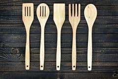 Ustensiles de cuisine sur le Tableau image libre de droits