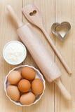 Ustensiles de cuisson faits de bois Photo libre de droits
