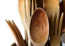 Ustensiles en bois Photographie stock libre de droits