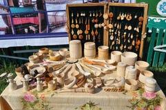 Ustensiles en bois Photos libres de droits
