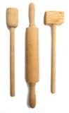 Ustensiles en bois de cuisine Images stock