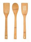 Ustensiles en bois de cuisine réglés Photographie stock libre de droits
