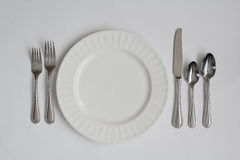 Ustensiles formels de couvert de dîner Photos libres de droits