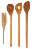 Ustensils for cooking - wodden spoons Stock Images