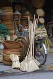 Ustensils for sale in the streets of Hanoi Stock Photo