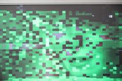 Usterka błędu ekranu piksla pixilation testa usterki tekstury skorumpowanej kartoteki synth cyfrowa fala w ufo zieleni fi opary s fotografia royalty free