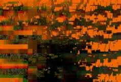 Usterka ekranu wzoru cyfrowy abstrakt, wykoślawienie artefakt royalty ilustracja