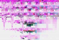 Usterka ekranu wzoru cyfrowy biel, interferencji wykoślawienie ilustracja wektor