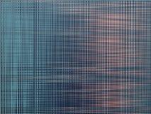 Usterki abstrakcjonistyczny tło z wykoślawienie skutkiem, zielenią, błękitem i pomarańczowymi liniami, horyzontalnymi i pio ilustracja wektor
