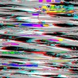 Usterki psychodeliczny tło Stary TV ekranu błąd Cyfrowego piksla hałasu abstrakcjonistyczny projekt Fotografii usterka Telewizja  Obraz Stock